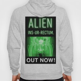 ALIEN INS-UR-RECTUM. Movie Poster. Hoody
