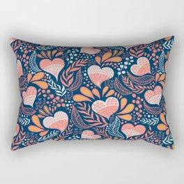 Floral Hearts Day Rectangular Pillow