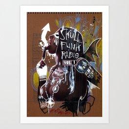 SKULL FUNK RADIO VOL. 1 Art Print