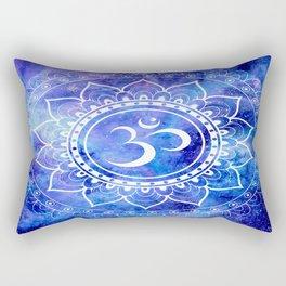 Om Mandala Blue Lavender Galaxy Rectangular Pillow