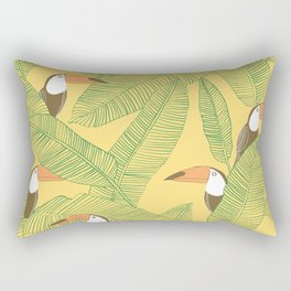 Summer With Toucan Rectangular Pillow