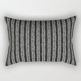 Mud cloth - Black and White Arrowheads Rectangular Pillow
