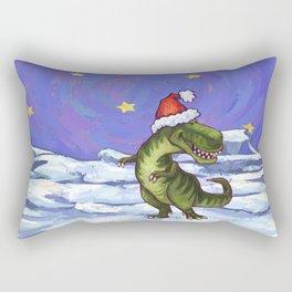 Tyrannosaurus Christmas Rectangular Pillow