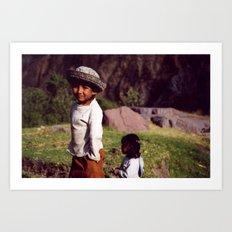 Children of the Colca  Art Print