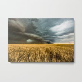 Earth Mover - Storm Advances Across Great Plains in Colorado Metal Print