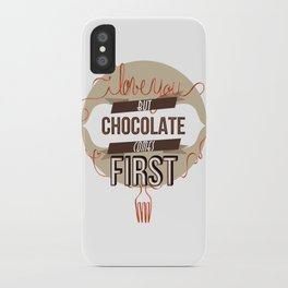 Words of love - Chocolate iPhone Case
