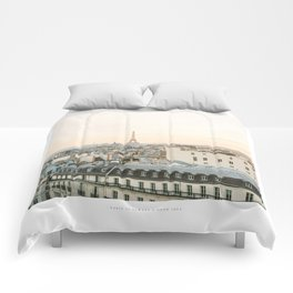 On the rooftops of Paris Comforters