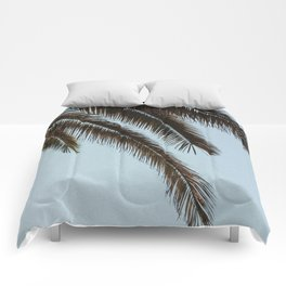 tropical palm leaves Comforters