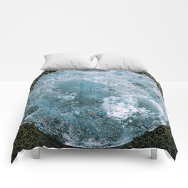 Full Wolf Moon Comforters