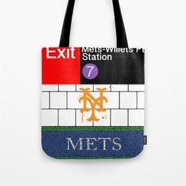 NYC Mets Subway Tote Bag