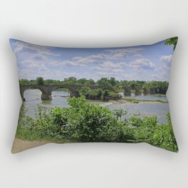 Tattered Trestle Over the Maumee Rectangular Pillow