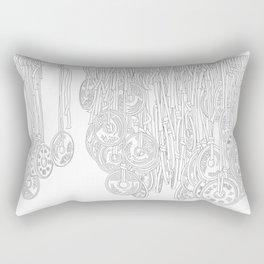 Happy Five Yen Coins - Line Art Rectangular Pillow
