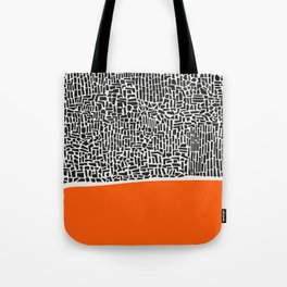 City Sunset Abstract Tote Bag