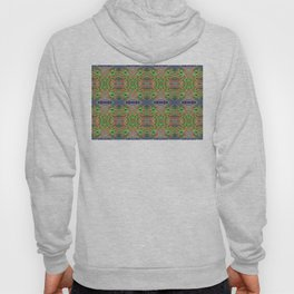 Red Lilly Flower Photo Multi Fractal Frieze Hoody