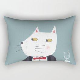 Cheers! Gentleman Cat Rectangular Pillow