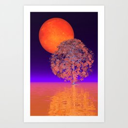 orange night Art Print