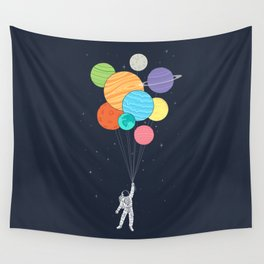 Planet Balloons Wall Tapestry