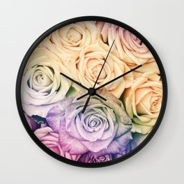 Some people grumble - Colorful Roses - Rose pattern Wall Clock