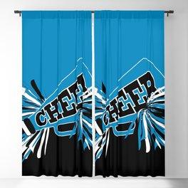 Blue Cheerleader Blackout Curtain