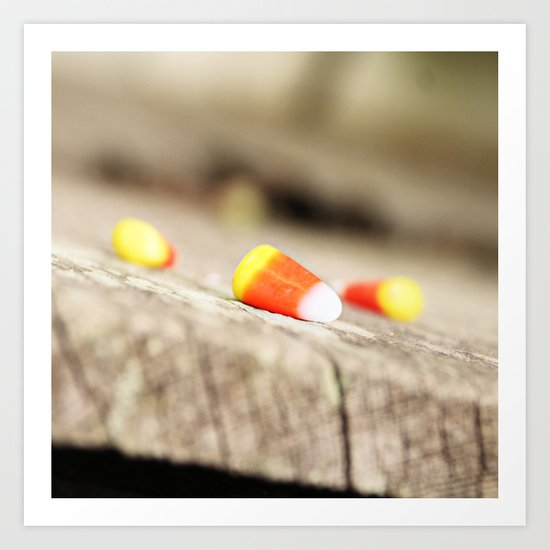 First (Candy) Corn of the Season Art Print