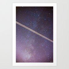 Boeing through the Milky Way Art Print
