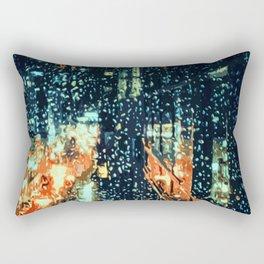 It's raining on the streets of New York City Rectangular Pillow