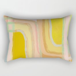Shapes and Layers no.28 - Modern Pattern Squares and Lines Rectangular Pillow