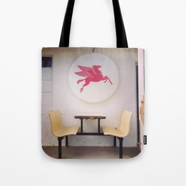 Mobil Gas Dining Booth Tote Bag