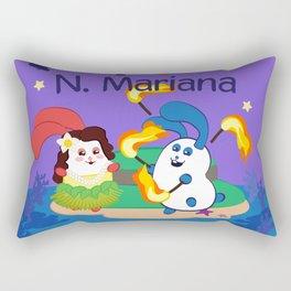 Ernest & Coraline | I love Northern Mariana Islands Rectangular Pillow