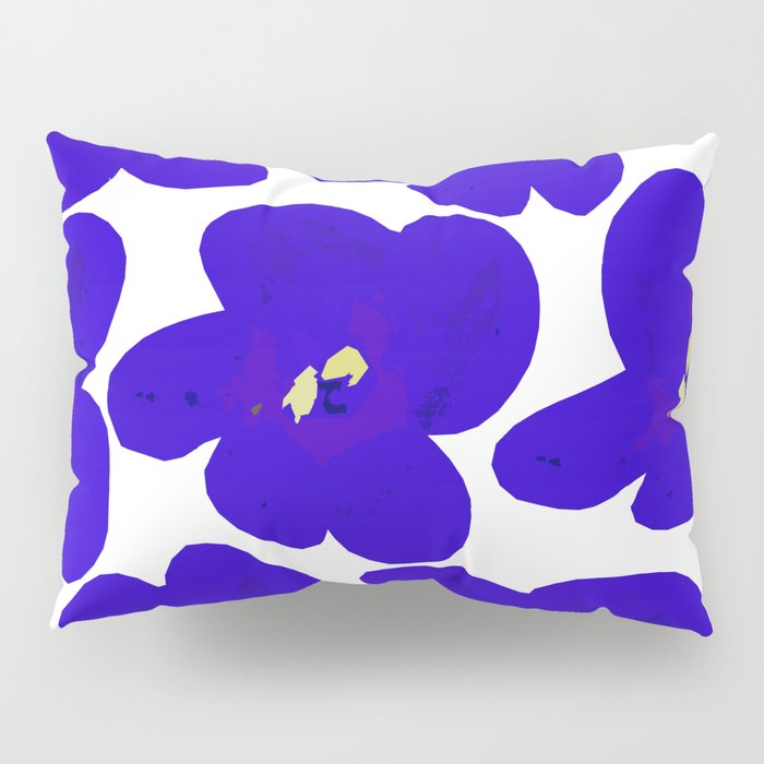 Blue Retro Flowers #decor #society6 #buyart Pillow Sham