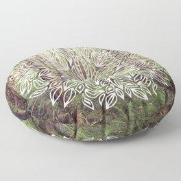 Mandala Vintage Forest Path Floor Pillow