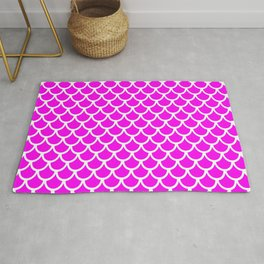Scales (White & Magenta Pattern) Rug
