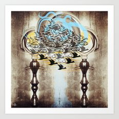 Current - above as below from side to side Art Print
