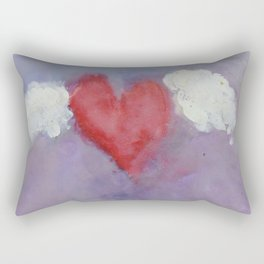 flying heart encaustic Rectangular Pillow