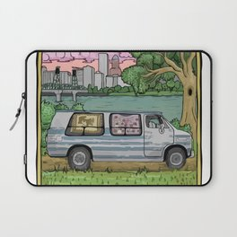 Live In A Van Down By The River (Colored) Laptop Sleeve
