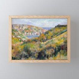 Hills around the Bay of Moulin Huet, Guernsey by Renoir Framed Mini Art Print