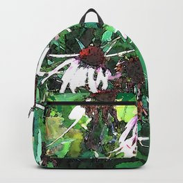 Watercolor Echinacea Backpack