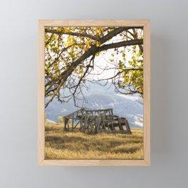 Lean To - Mormon Row - Grand Tetons Framed Mini Art Print