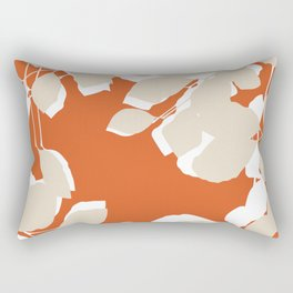 leaves rust and tan Rectangular Pillow