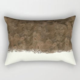 Dipped Wood - Walnut Burl Rectangular Pillow