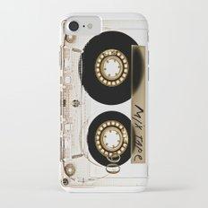 Transparant mix tape Retro Cassette iPhone 7 Slim Case
