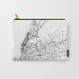 Minimal City Maps - Map Of New York, United States Carry-All Pouch