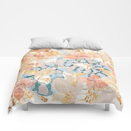 Coral Spring Garden Comforters