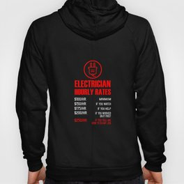 Electrician Hourly Rates print | funny Mechanic Tee Idea Hoody