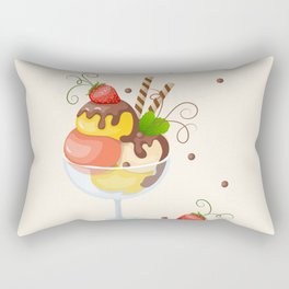 strawberry ice cream Rectangular Pillow