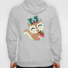 Holiday Woodland Animal Surface Pattern Design - Mint / Cute Animal Hoody
