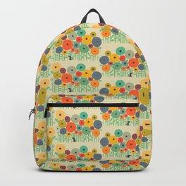 Cat in flower garden Backpack