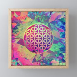 Flower Of Life (Midst Of Abstraction) Framed Mini Art Print