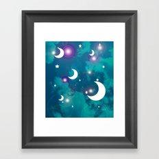 Night Stars Framed Art Print