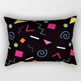 Early 90's Confetti Toss Rectangular Pillow
